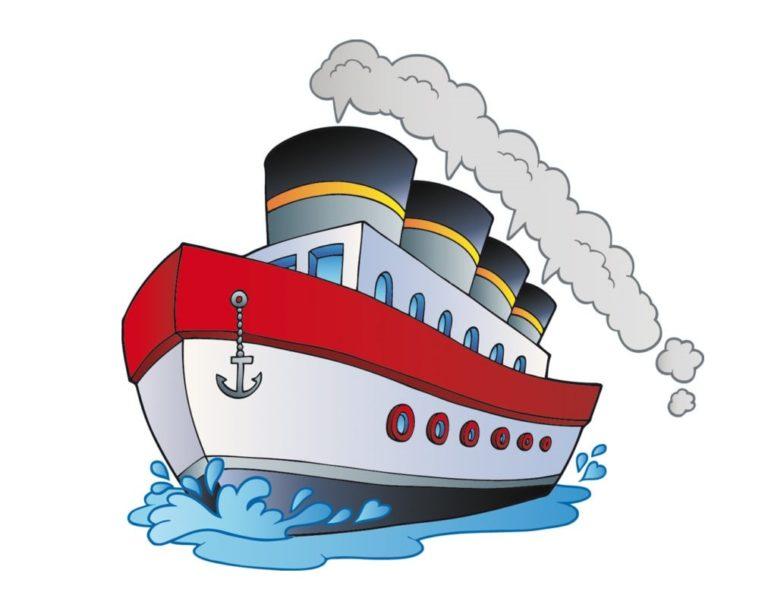 Картинки детские пароход