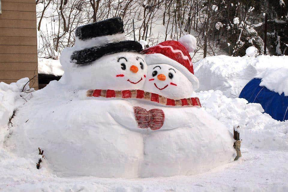 Стихи про снеговика и снежную бабу
